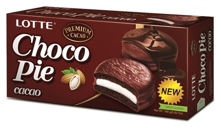 Пирожное Lotte Chocopie шоколадное, 168г  Lotte