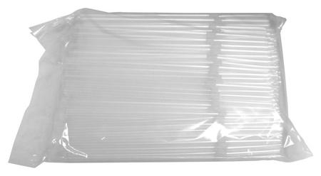 Трубочки для коктейля гофр. 210мм,d=5мм, прозрачн 250шт/уп.пп 342043  Мистерия