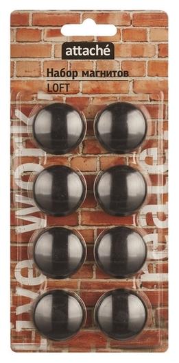Магнитный держатель для досок Attache Loft HDF черн.40мм,8шт/уп  Attache