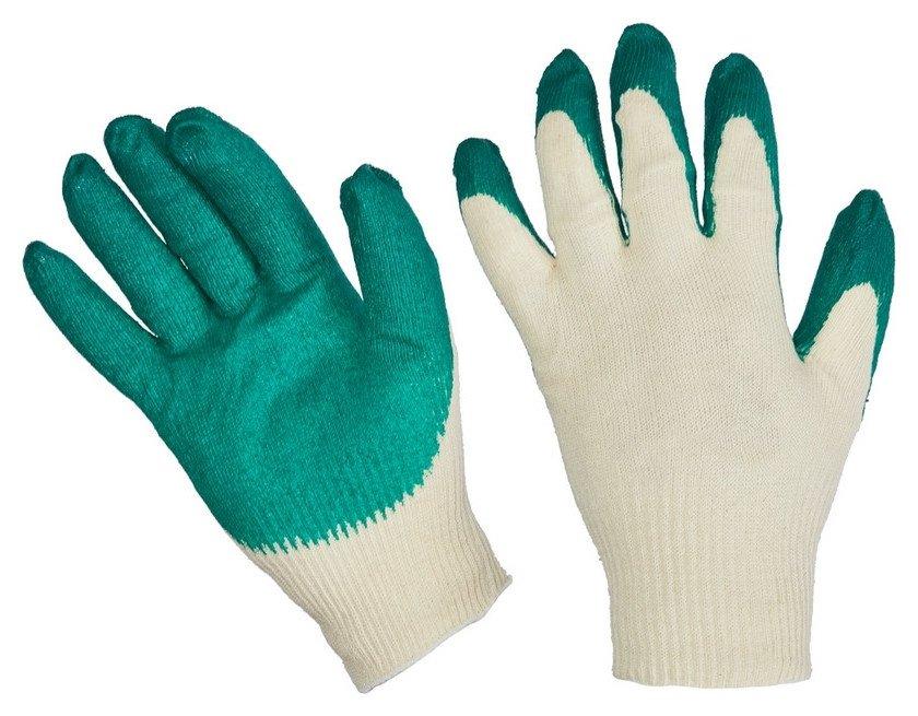 Перчатки защитные трикотажные с латексной заливкой 13 класс 10пар/уп  NNB