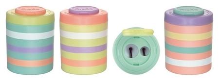 Точилка Milan Sugar, 2 отверстия, пластик, цвет в ассорт.  Milan