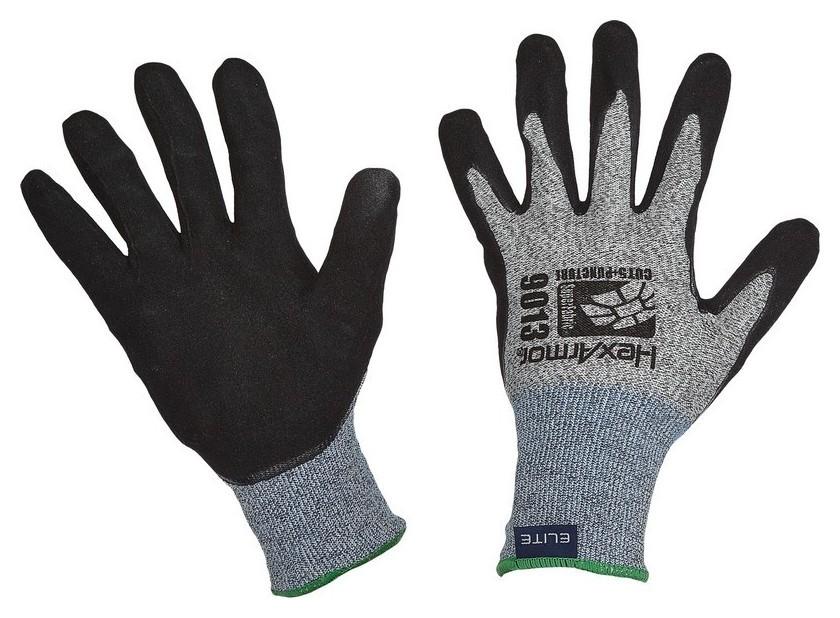 Перчатки защитные трик Hexarmor 9000 Series с нитр текс покр (Р10) (9013)  HexArmor