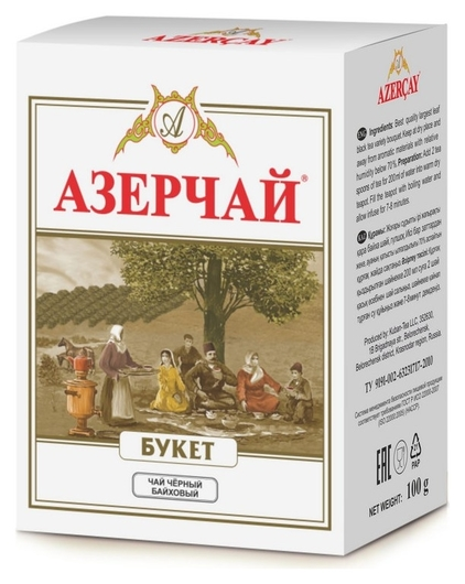 Чай азерчай букет чай черный листовой, 100 г 234746  Азерчай