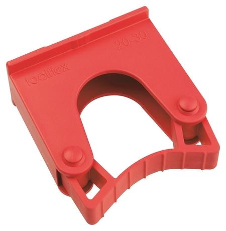 Зажим для щеток и рукояток, диаметр 20 - 30мм Hold 1 R красный  Hillbrush