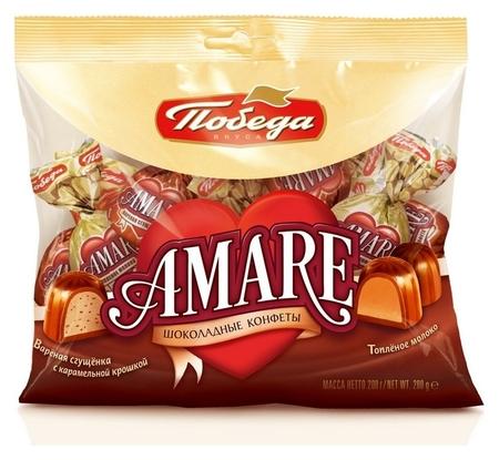 Конфеты победа вкуса два вида шок.конфет с начинкой Amare, 200г  Победа вкуса