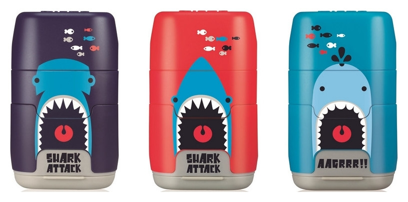 Ластик -точилка Milan Compact акулы, цв в асс 4706116srt (ДС)  Milan