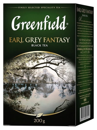 Чай Greenfield Earl Grey Fantasy черный листовой, 200г 0794-10  Greenfield