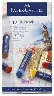 Пастель масляная Faber-castell Oil Pastels, 12 цветов, картон. упак.,127012  Faber-castell