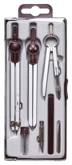 Готовальня Attache 140 мм, 7 предметов S03007h, пласт.пенал  Attache