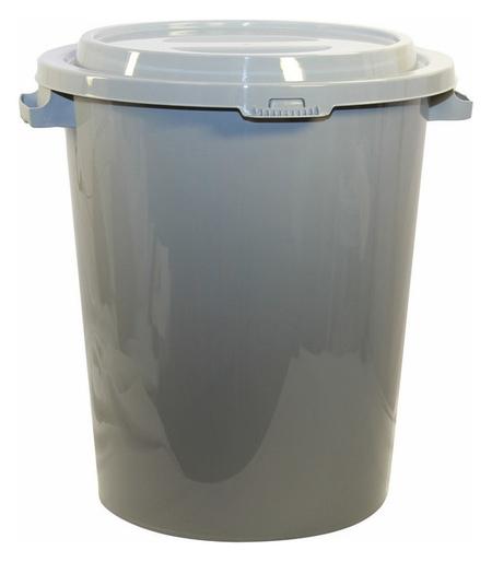 Бак для отходов 90л, пластик, серый  Idea