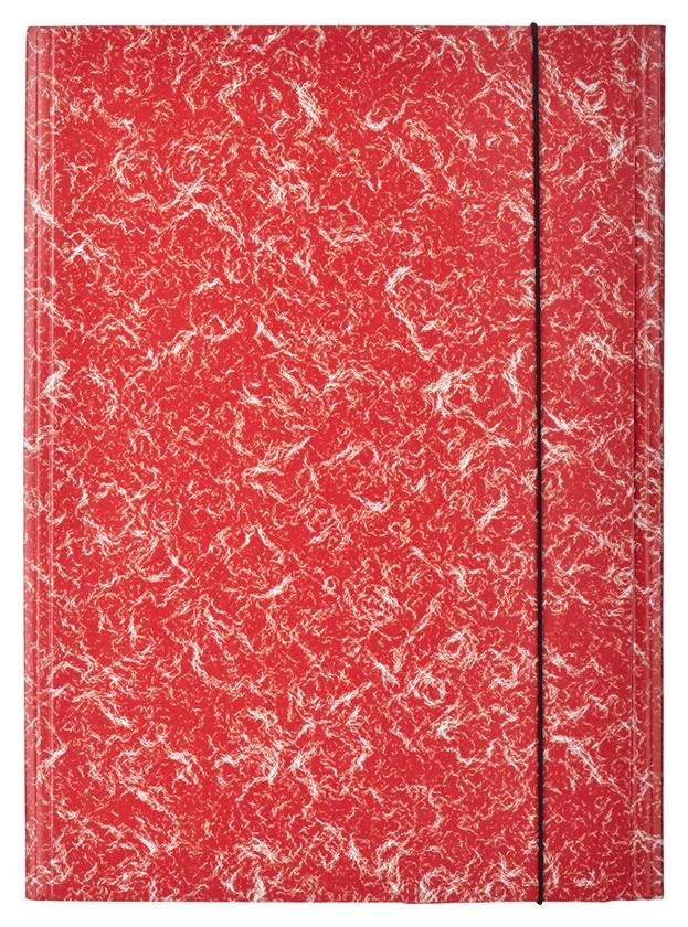 Папка картонные аttache на резинке, красный  Attache