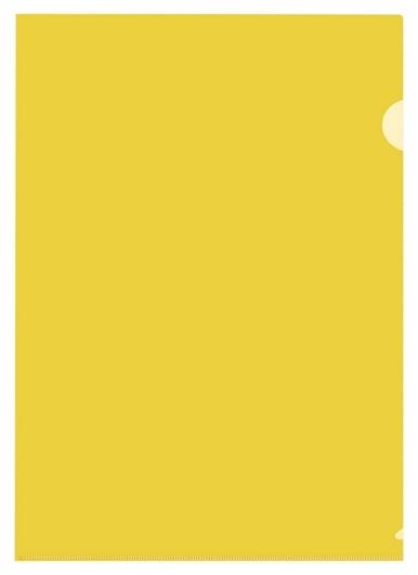 Папка уголок E-310 180мкр жест.пластик А4 желтая прозр.россия 10шт/уп  Attache