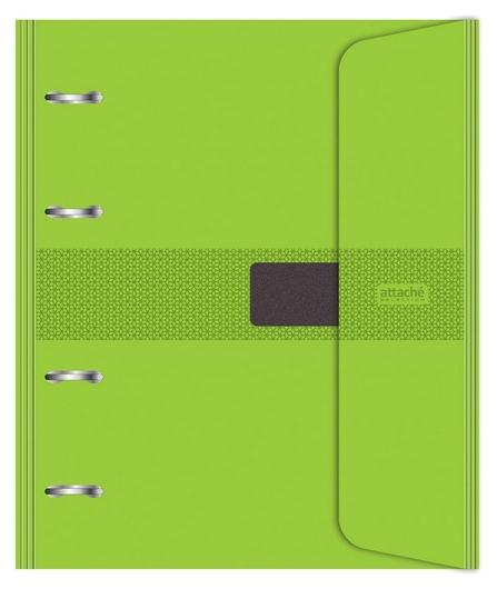 Бизнес-тетрадь со смен.блоком 120л,кл,а5, салатовый,пропилен.обл.налипучке  Attache