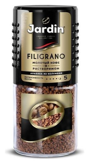 Кофе Jardin Filigrano сублимированный C молотым, 95г стек.бан.  Jardin