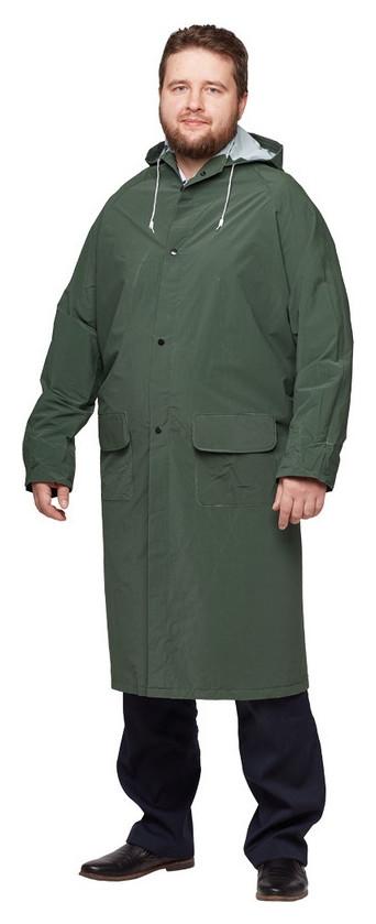 Спец.костюм плащ ПВХ (Зеленый) XL, шт NNB