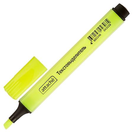 Маркер выделитель текста Attache желтый 1-4 мм треугольный  Attache