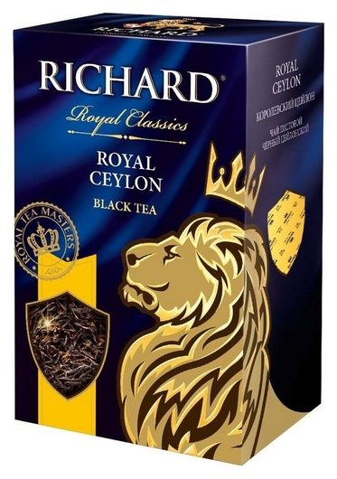 Чай Richard Royal Ceylon черн.лист., 90г  Richard