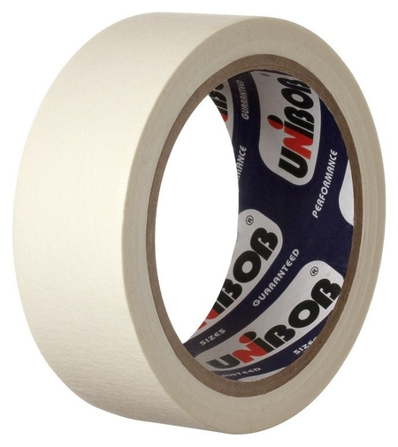 Клейкая лента бумажная (Малярная) Unibob 48мм х 25м  Unibob