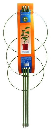 Опора для растений круглая (3 кольца) металл H60см 466337 NNB