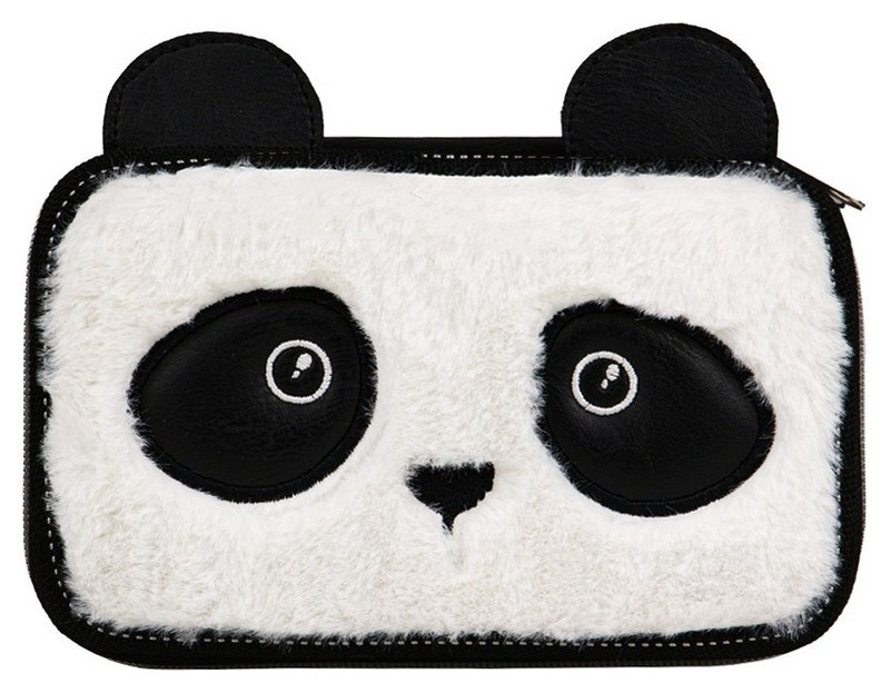Пенал №1 School Panda, двухсекционный, мех  №1 School