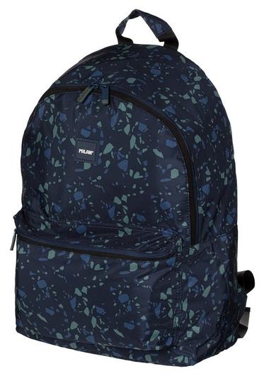 Рюкзак школьный Terrazzo Blue 41х30х18 см, темно-синий, 624605tzb  Milan