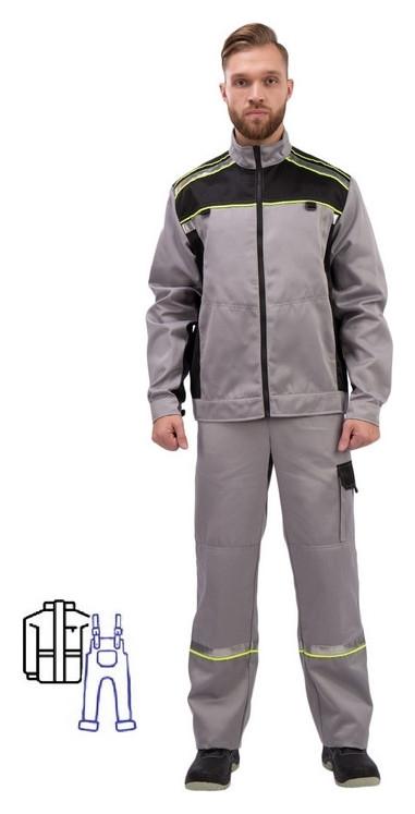 Спец.одежда летняя костюм муж. л26-кпк сер/черн (Р.60-62) 170-176 NNB
