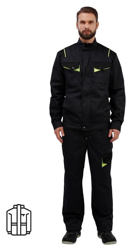 Спец.одежда летняя куртка муж. л27-ку т.сер/черн (Р.52-54) 170-176 NNB