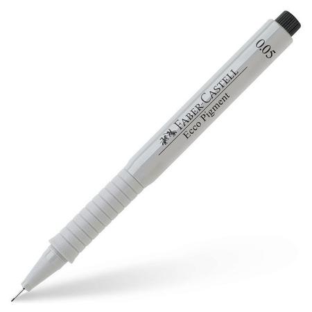 Ручка капиллярная Faber-castell Ecco Pigment черная, 0,05мм, 166099  Faber-castell