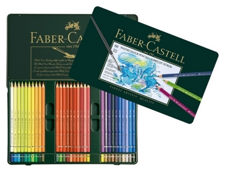 Карандаши цветные акварельные Faber-castell Albrecht Durer, 60цв, 117560  Faber-castell