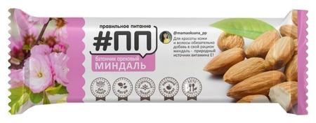 Батончик ореховый #ПП миндаль, 40г  Правильное питание ПП