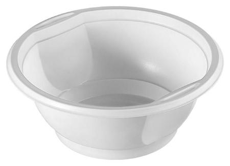 Миска одноразовая пластик.комус для хол./гор., 0,6л, белая, ПП, 50шт/уп Комус