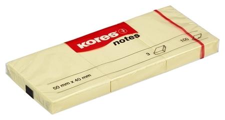 Блок-кубик Kores бум.для зам. 50х40 желтая 100л. 3шт./уп. ?46050  Kores