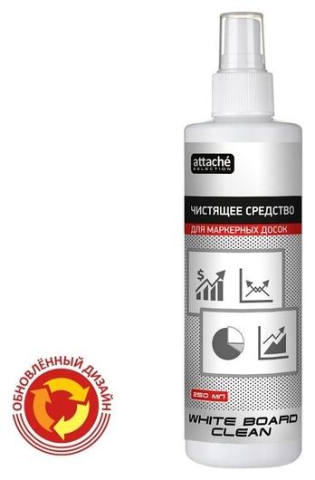 Спрей для чистки маркерных досок Promega Office White Board Clean 250мл.  Attache