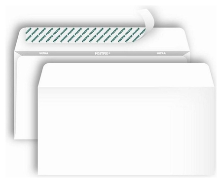 Конверты Postfix Е65 стрип 110х220 80г/м2, 1000шт/уп  Bong