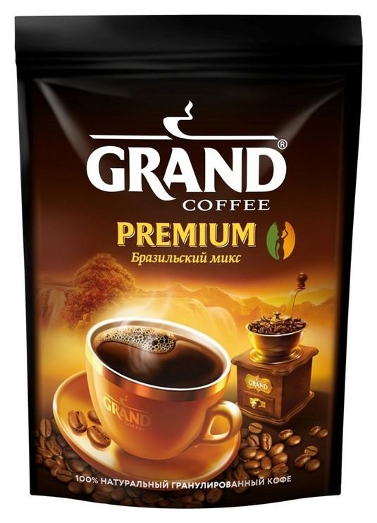 Кофе Grand Premium по-бразильски гранулированный, пакет 200 г.  Grand