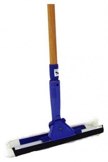Швабра для мытья окон (Водосгон, шубка, ручка)  Home Queen