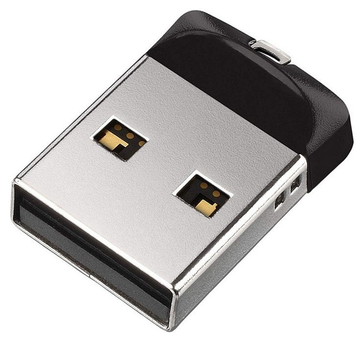 Флеш-память Sandisk Cruzer Fit, 32gb, USB 2.0, чер, Sdcz33-032g-g35  Sandisk
