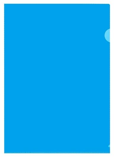 Папка уголок, 150 мкм, синий 10шт/уп россия  Attache