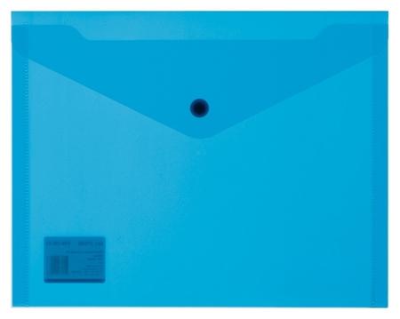 Папка-конверт на кнопке А5, 19х24, 180мкм, синий 10шт/уп  Attache