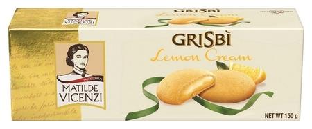 Печенье Grisbi лимонный крем, 150г  Grisbi
