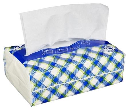 Салфетки бумажные Luscan Nonstop 1слбелые цел1/4 слож100л/пач  Luscan