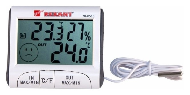 Термогигрометр комнатно-уличный Rexant 70-0515  Rexant