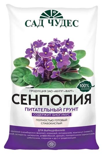 Грунт сенполия 5 л слабокислый питательный грунт  Сад чудес