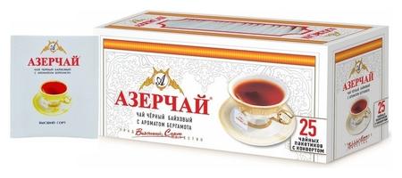 Чай азерчай чай черный с бергамотом в пакетиках сашетах, 25 шт 139221  Азерчай