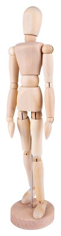 Манекен человека деревянный 30 см, женский Dk16204  Невская палитра