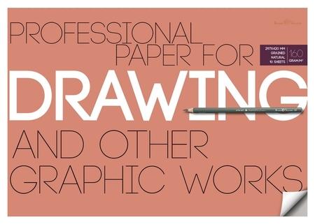 Бумага для рисунка и графики а3,10л,блок 160гр, в папке 4-128  Bruno Visconti