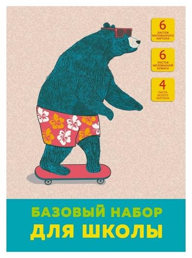 Набор цветной бумаги и картона а4,16л (Вкл 4л.бел) На скейтборде бншм466483  Канц-Эксмо