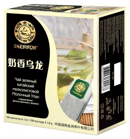 Чай Shennun молочный улун зеленый, 100пак. 1902  Shennun