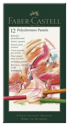 Пастель Faber-castell Polychromos 12цв.,картон.упак., 128512  Faber-castell
