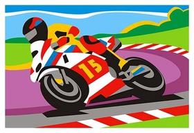 Набор для творчества картина по номерам спортивный мотоцикл, ркн-023  Lori